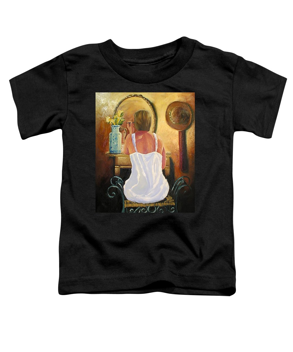 People Toddler T-Shirt featuring the painting La Coqueta by Arturo Vilmenay