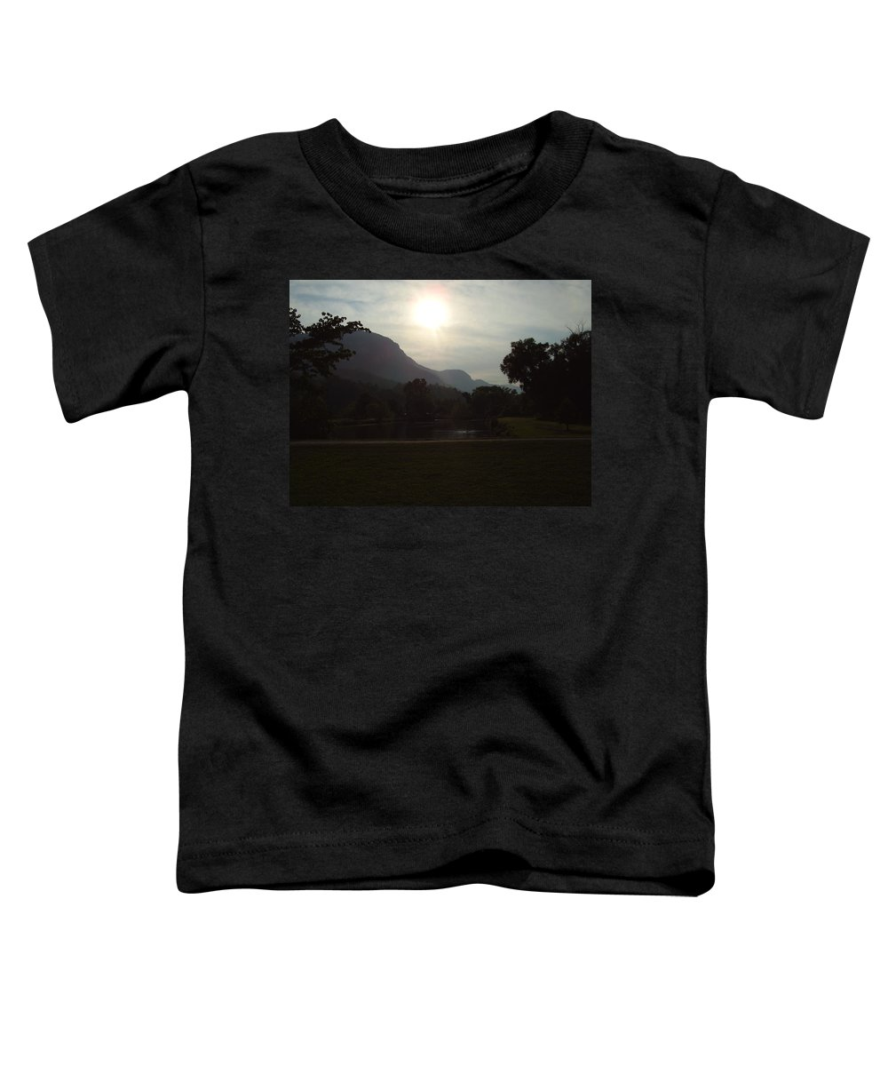 Lake Lure Toddler T-Shirt featuring the photograph Lake Lure by Flavia Westerwelle