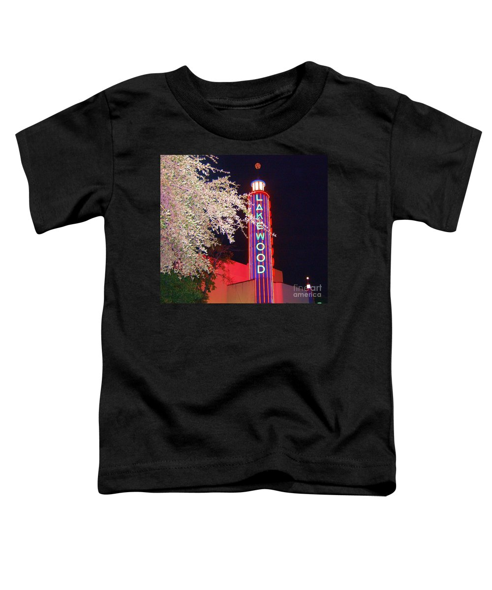 Theater Toddler T-Shirt featuring the photograph Lakewood Theater by Debbi Granruth