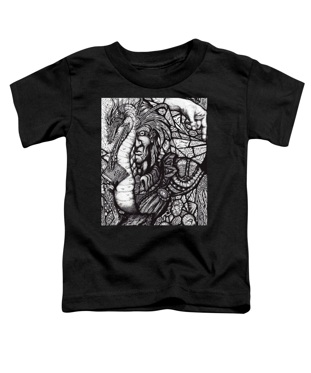 Pen And Ink Toddler T-Shirt featuring the drawing Legend by Tobey Anderson