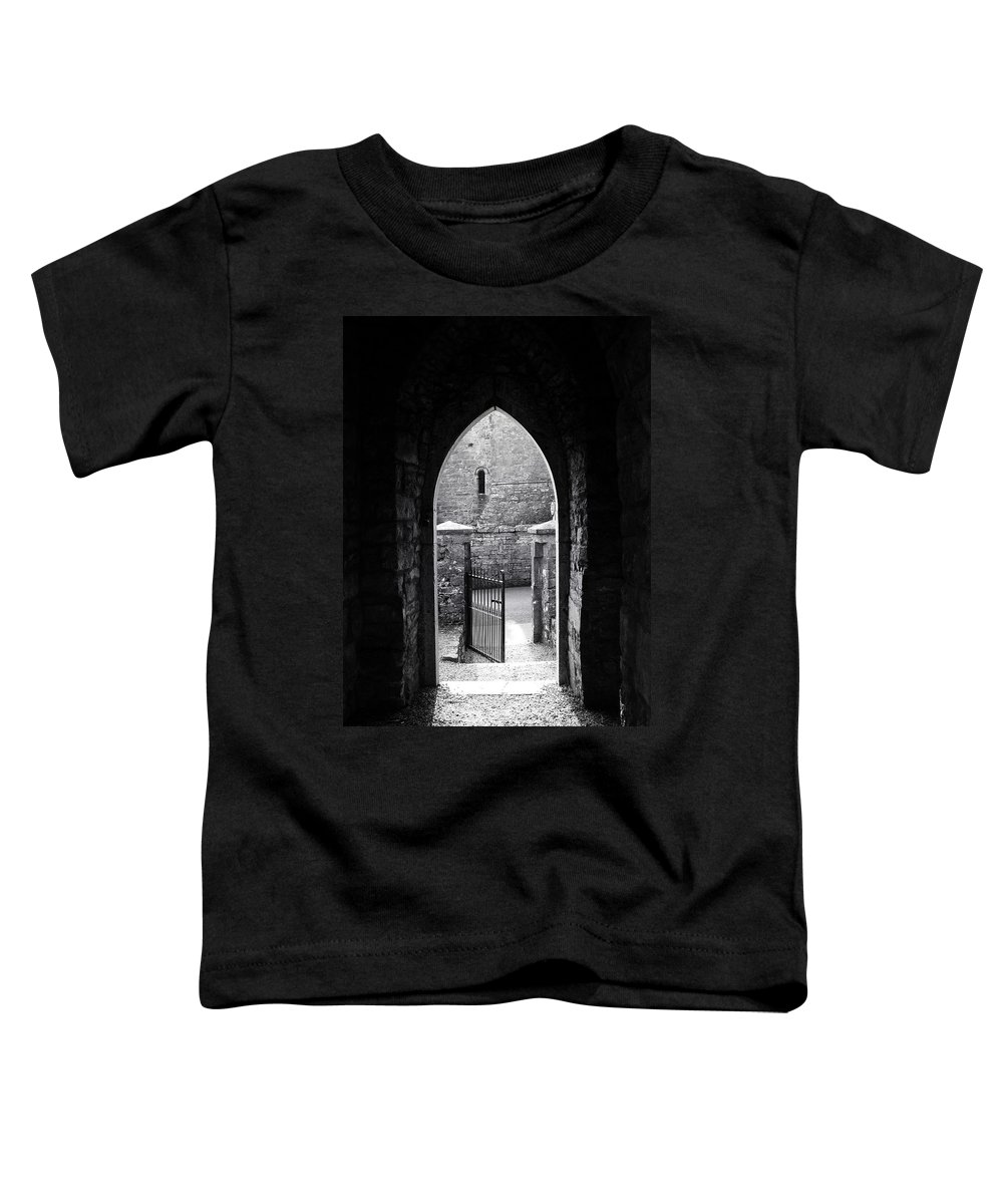 Irish Toddler T-Shirt featuring the photograph Let There Be Light Cong Church And Abbey Cong Ireland by Teresa Mucha