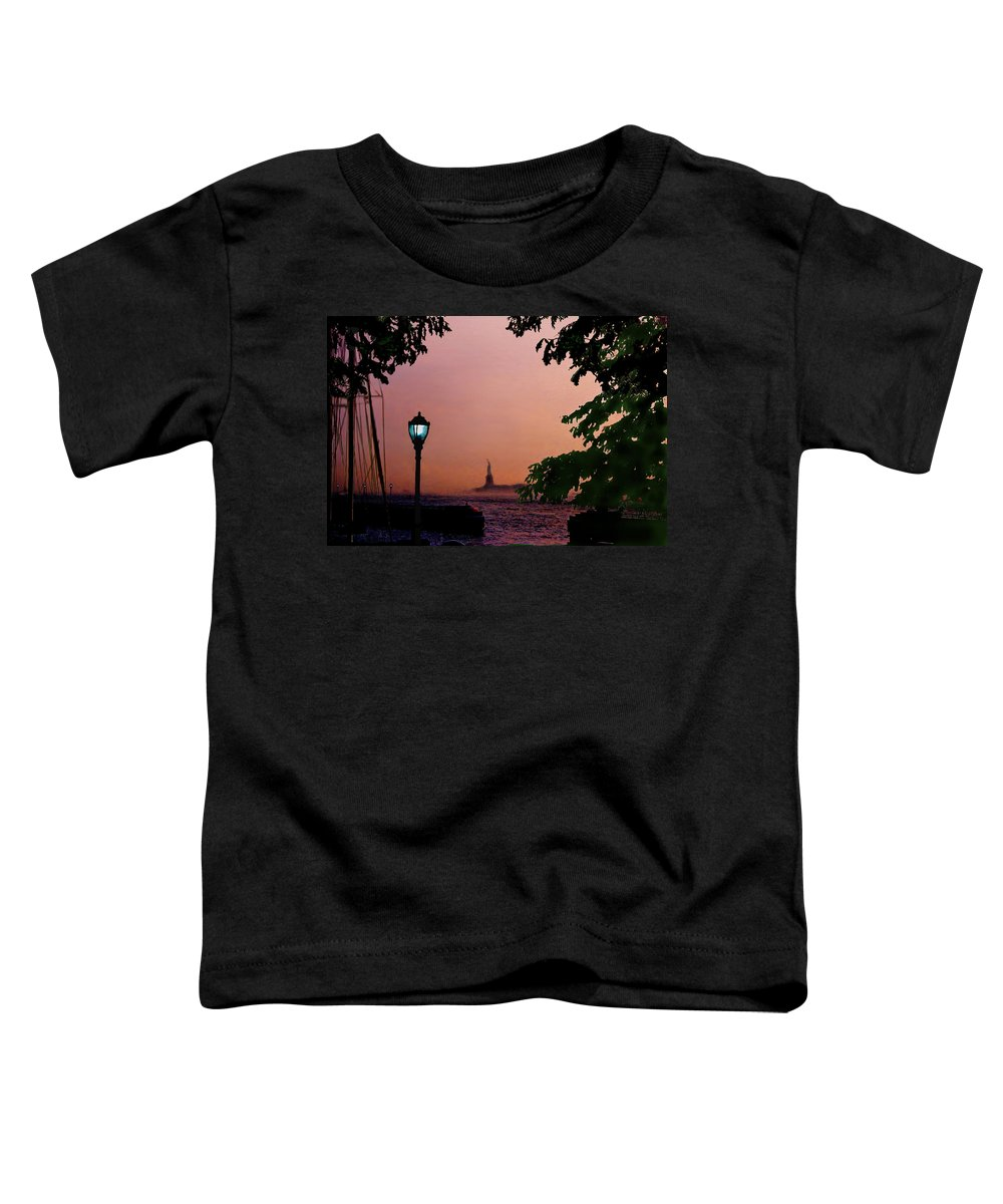 Seascape Toddler T-Shirt featuring the digital art Liberty Fading Seascape by Steve Karol