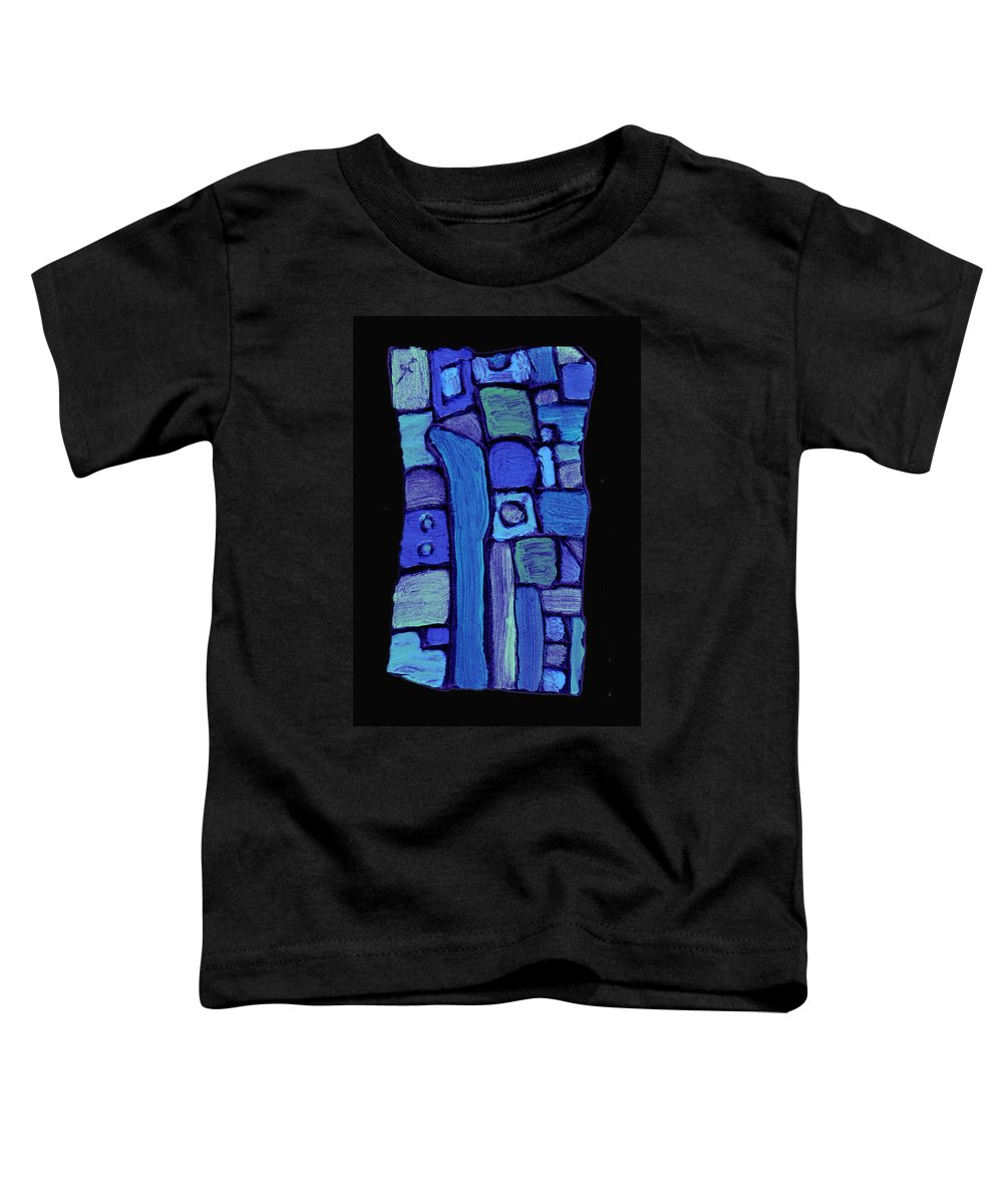 Abstract Toddler T-Shirt featuring the painting Life In The Pond by Wayne Potrafka