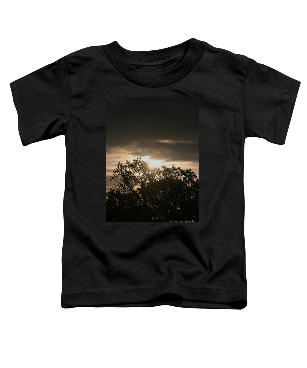 Light Toddler T-Shirt featuring the photograph Light Chasing Away The Darkness by Nadine Rippelmeyer