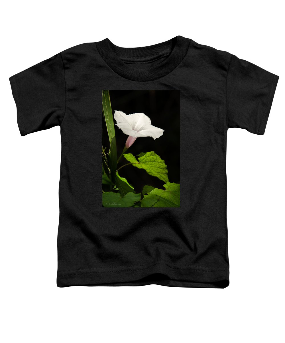 Flower Toddler T-Shirt featuring the photograph Light Out Of The Dark by Christopher Holmes