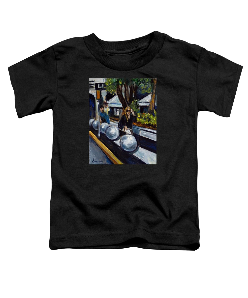 Shopping Toddler T-Shirt featuring the painting Lincoln Road by Valerie Vescovi