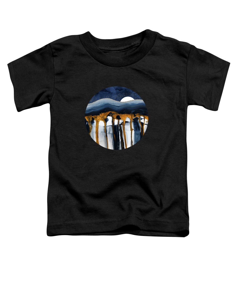 Liquid Toddler T-Shirt featuring the digital art Liquid Hills by Spacefrog Designs