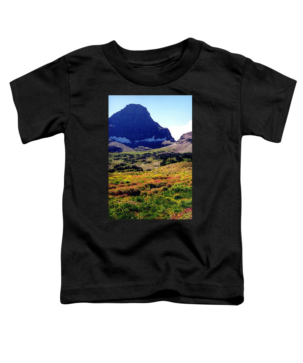 Glacier National Park Toddler T-Shirt featuring the photograph Logans Pass In Glacier National Park by Nancy Mueller