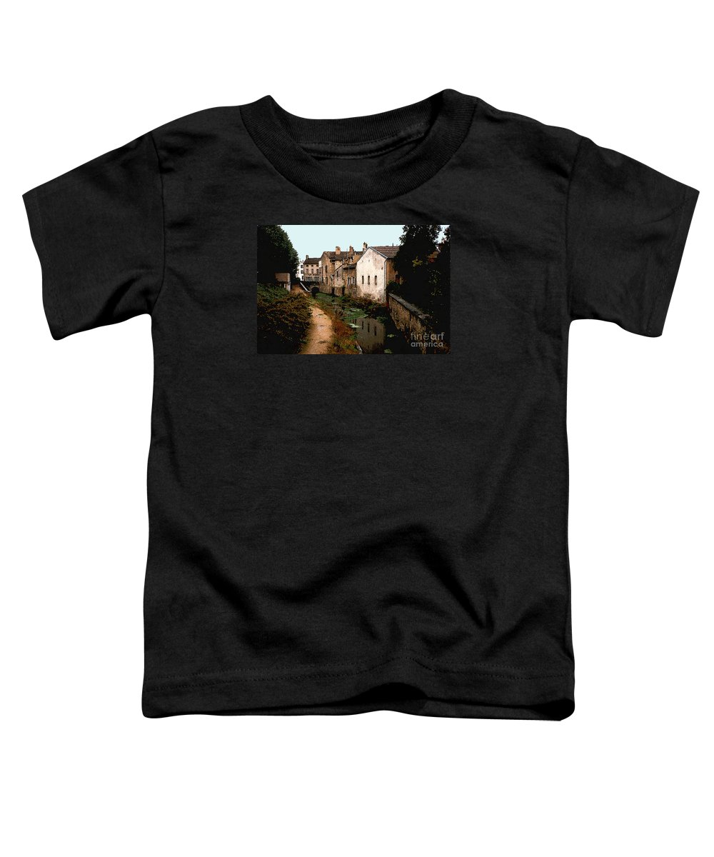 France Toddler T-Shirt featuring the photograph Loire Valley Village Scene by Nancy Mueller
