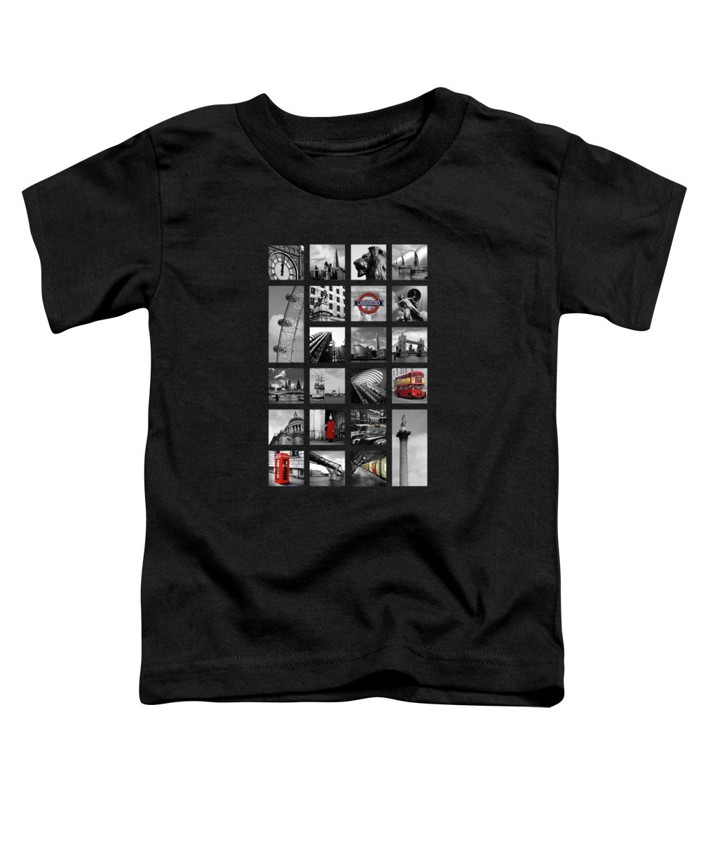 Tower Bridge Toddler T-Shirt featuring the photograph London Squares by Mark Rogan