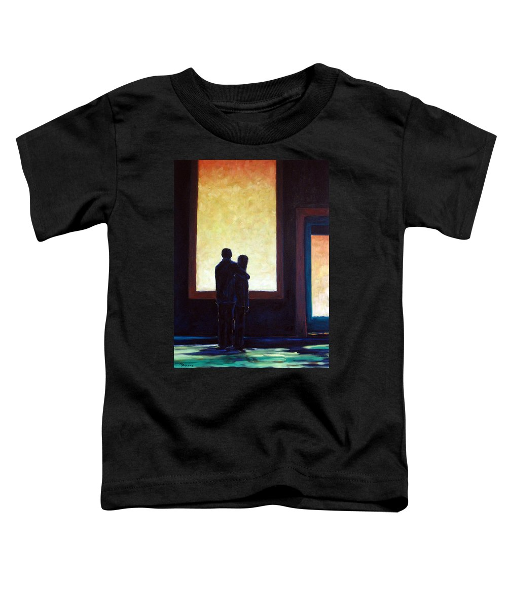 Pranke Toddler T-Shirt featuring the painting Looking In Looking Out by Richard T Pranke