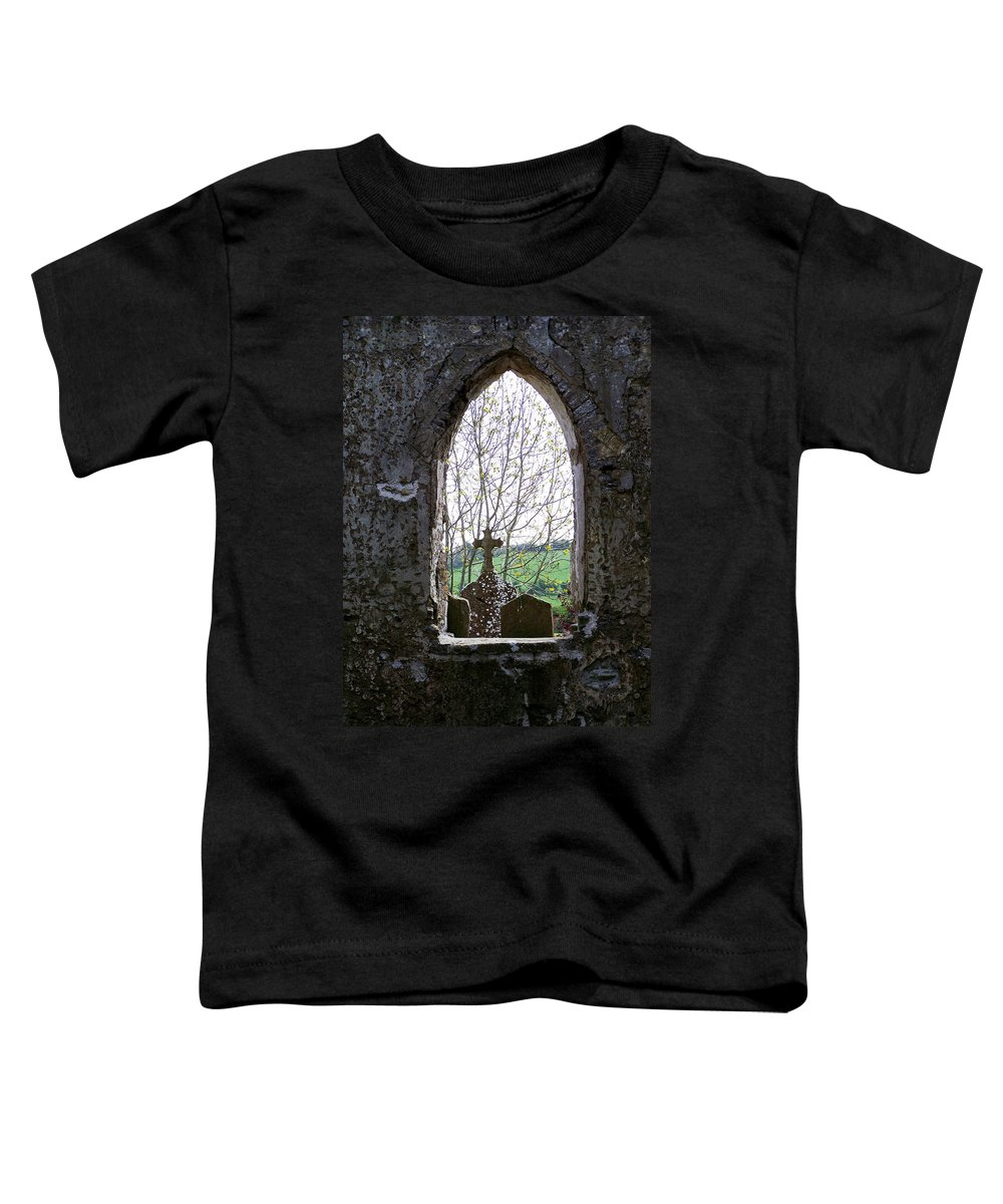 Ireland Toddler T-Shirt featuring the photograph Looking Out Fuerty Church Roscommon Ireland by Teresa Mucha