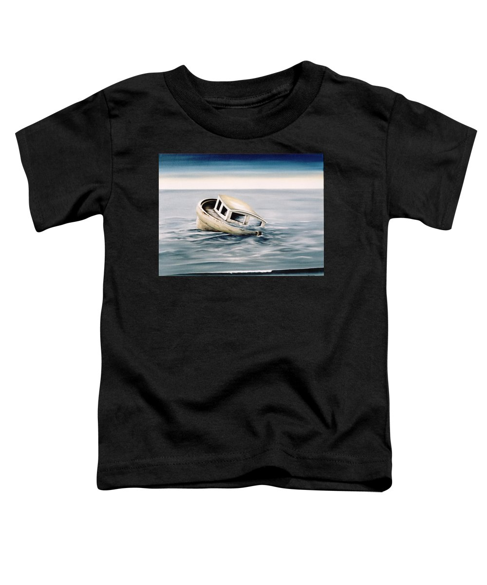 Seascape Toddler T-Shirt featuring the painting Lost At Sea Contd by Mark Cawood