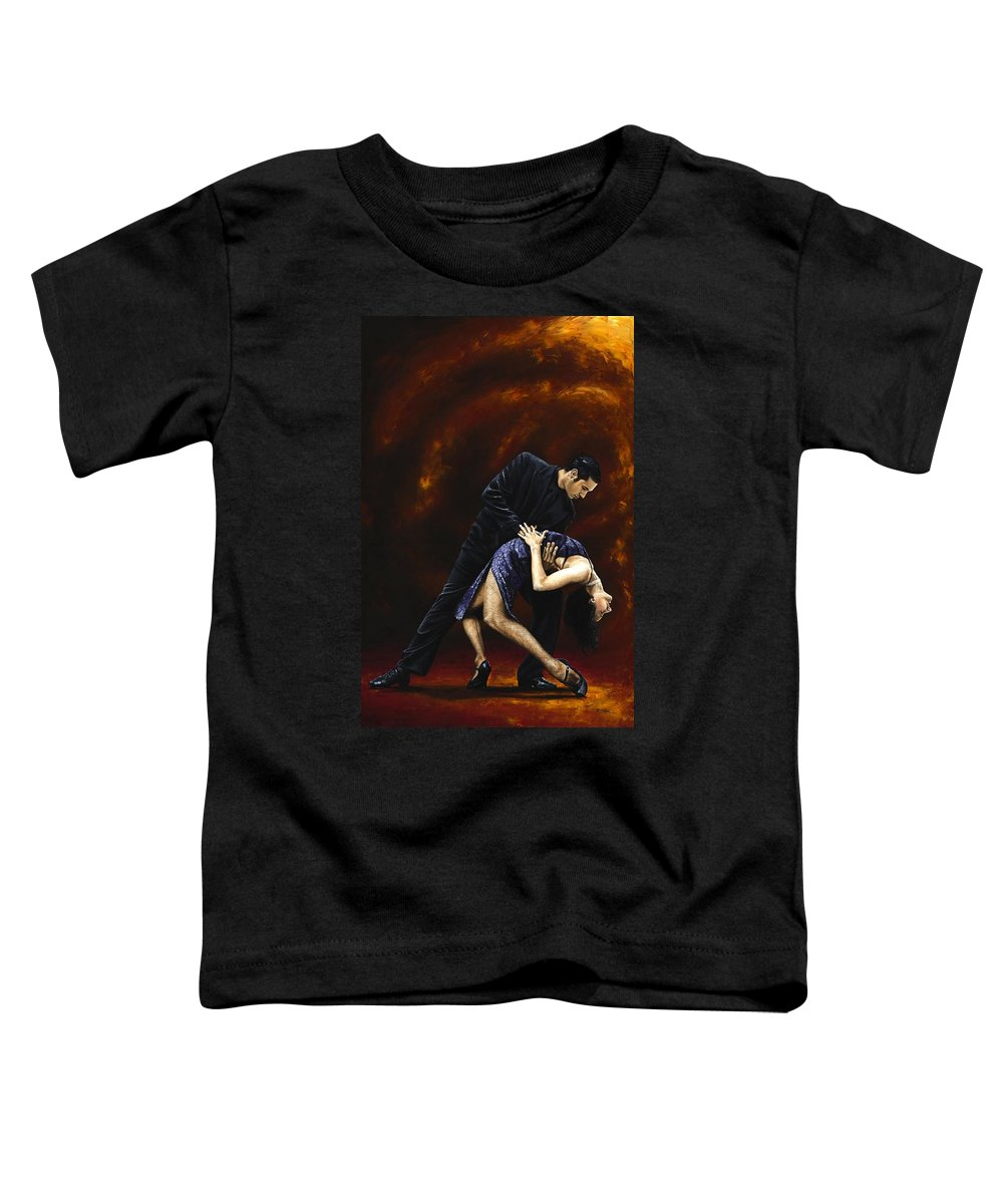 Tango Toddler T-Shirt featuring the painting Lost In Tango by Richard Young