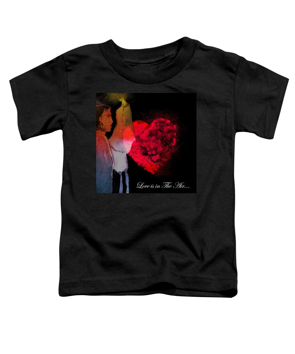 Love Toddler T-Shirt featuring the painting Love Is In The Air by Miki De Goodaboom