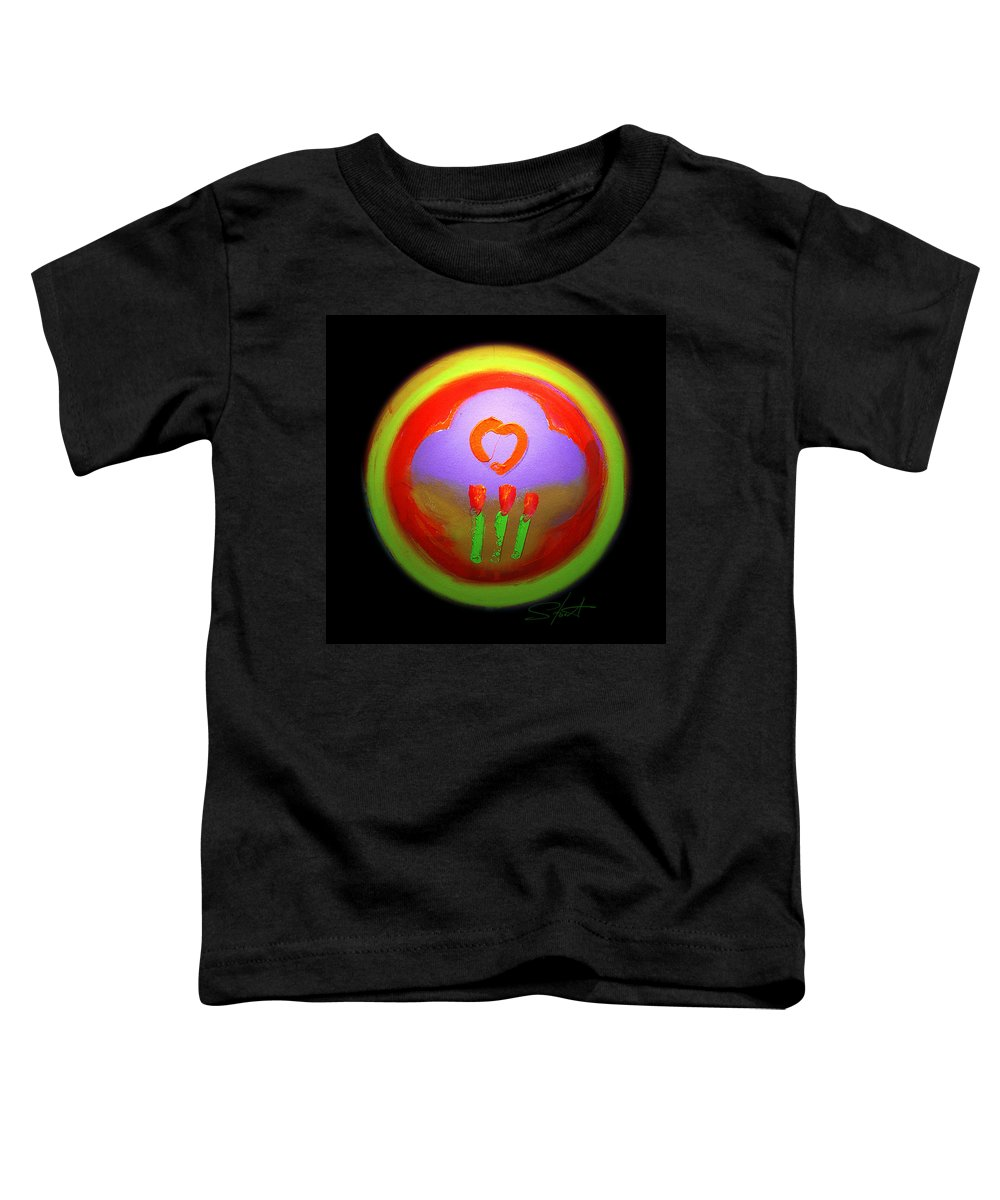 Love Toddler T-Shirt featuring the painting Love Landscape Three by Charles Stuart