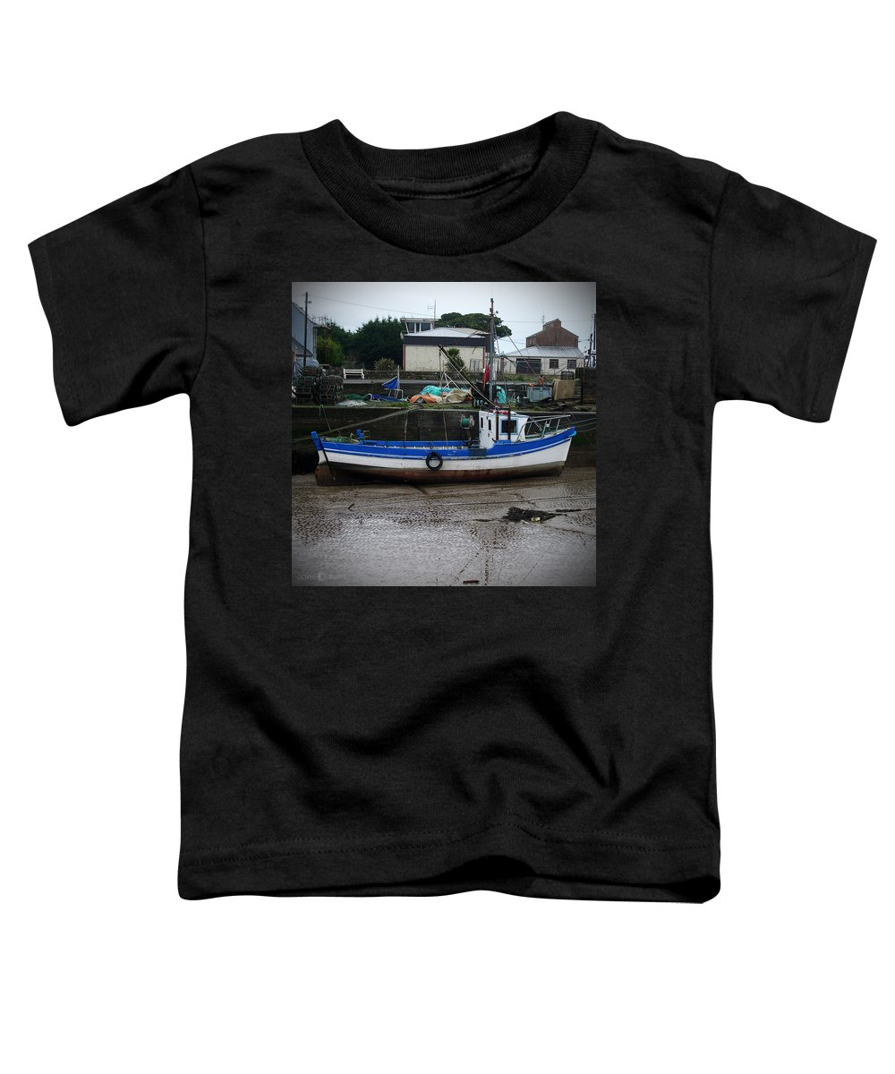 Boat Toddler T-Shirt featuring the photograph Low Tide by Tim Nyberg