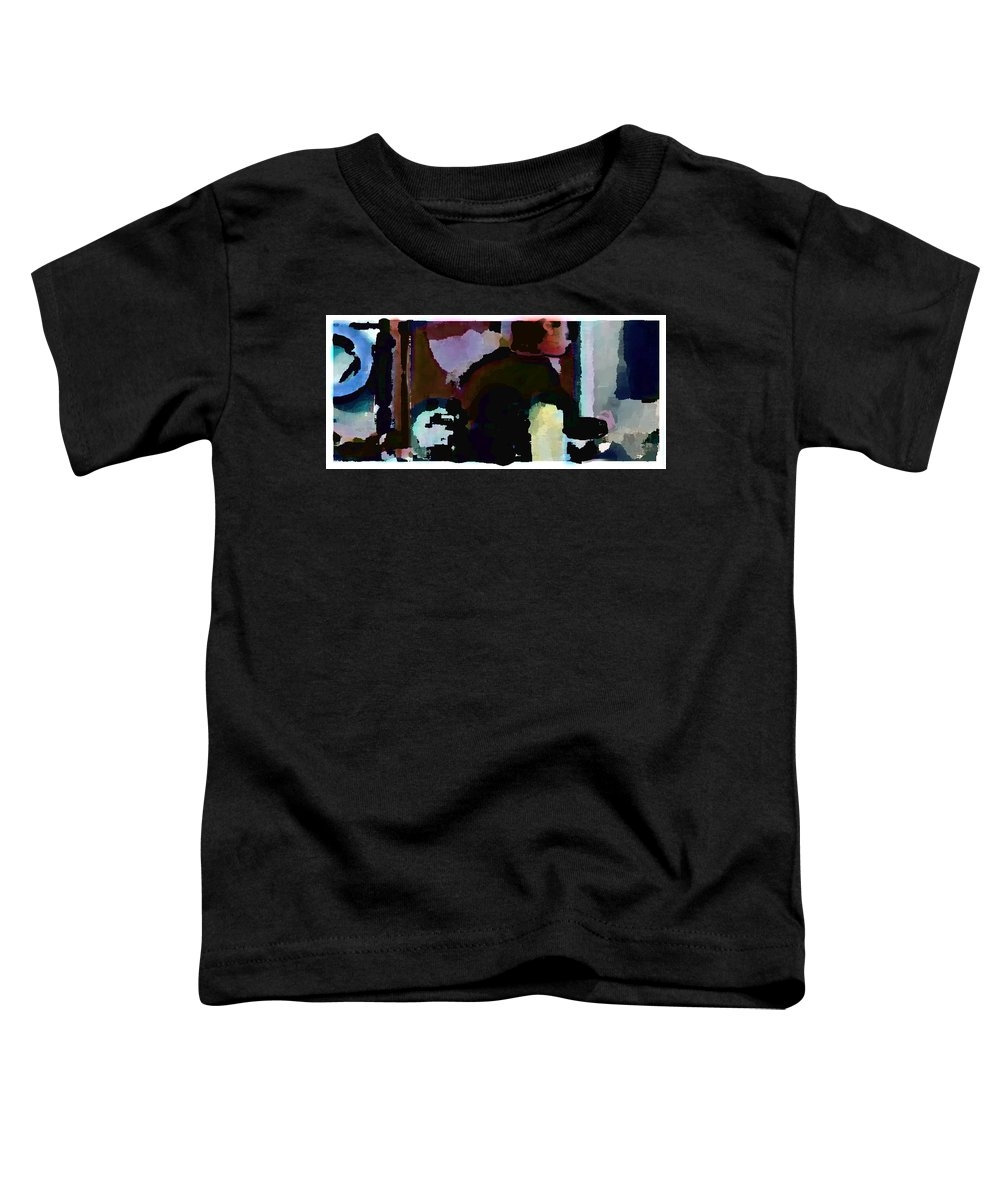 Abstract Expressionism Toddler T-Shirt featuring the painting Lunch Counter by Steve Karol