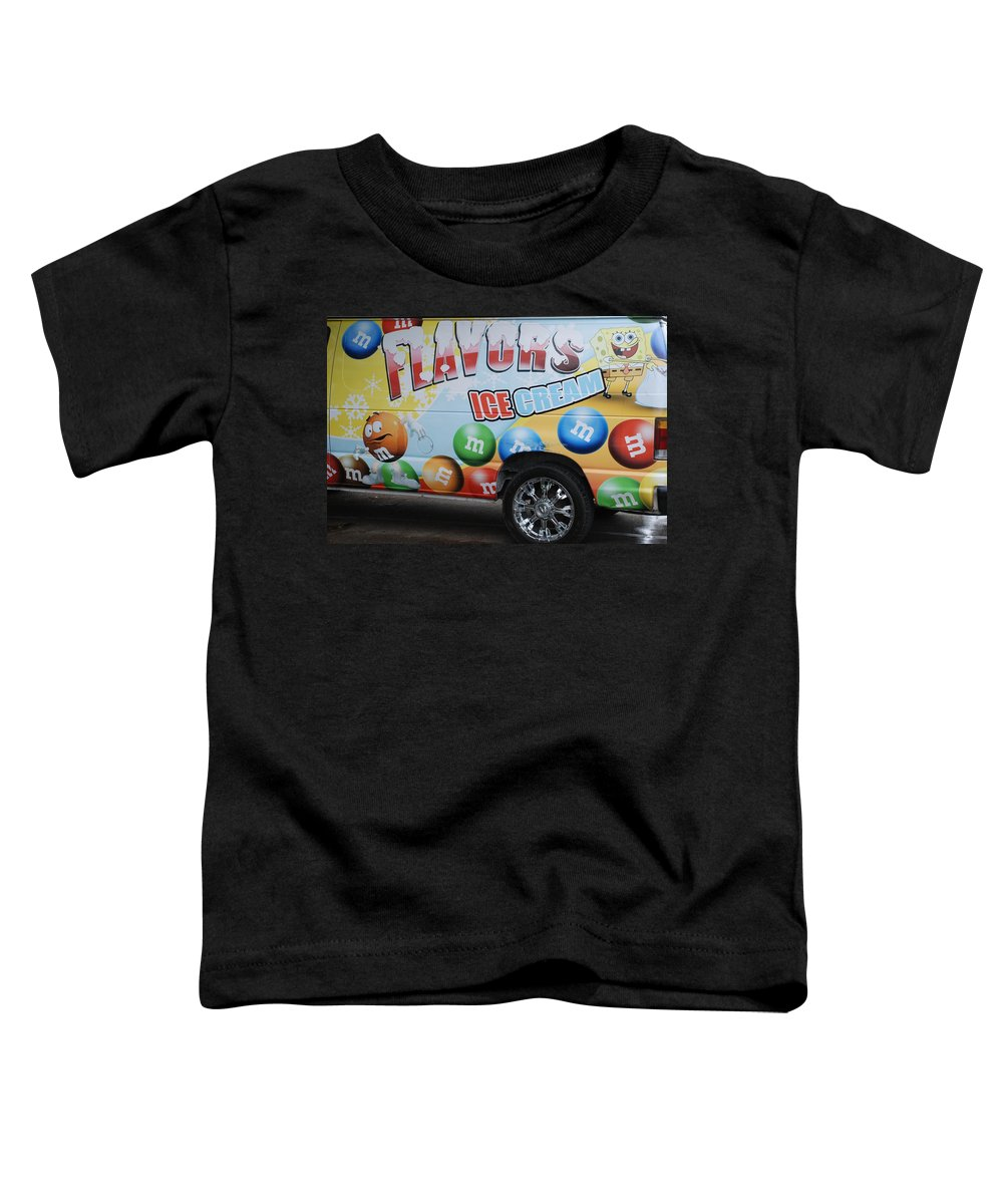 Sponge Bob Toddler T-Shirt featuring the photograph M And M Flavors For The Kids by Rob Hans