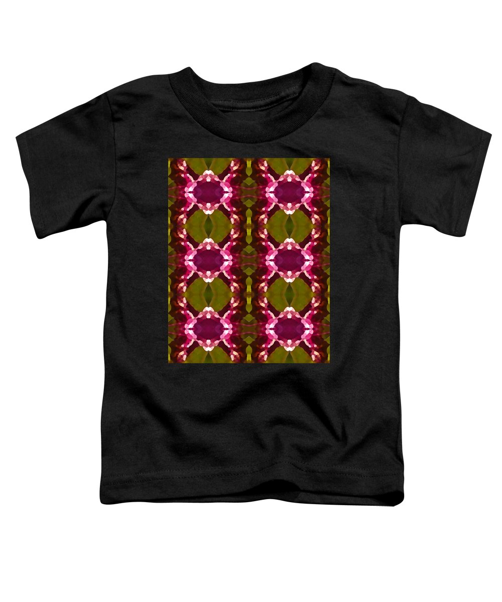 Abstract Toddler T-Shirt featuring the painting Magenta Crystal Pattern by Amy Vangsgard