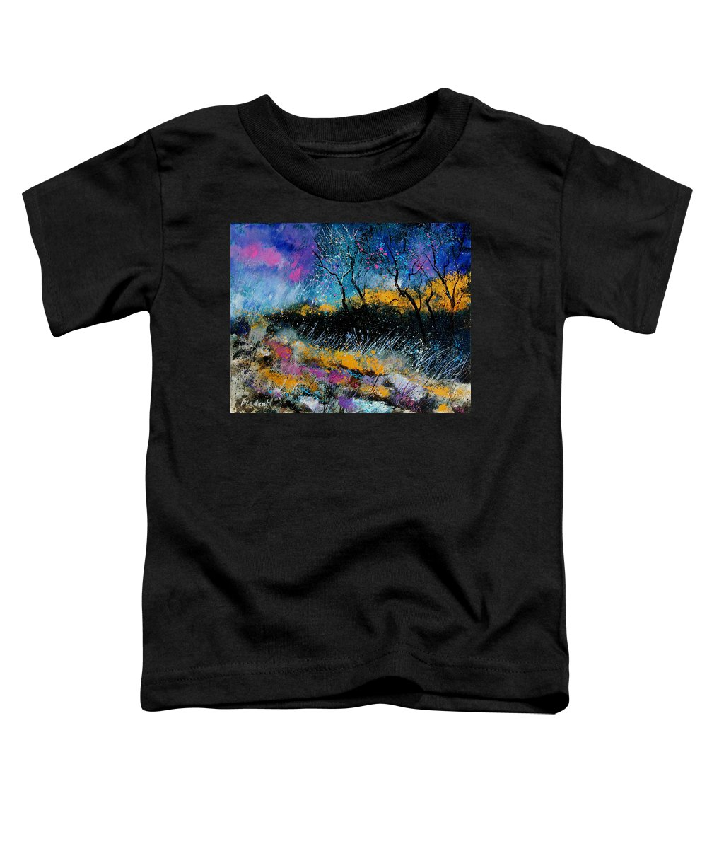 Landscape Toddler T-Shirt featuring the painting Magic Morning Light by Pol Ledent