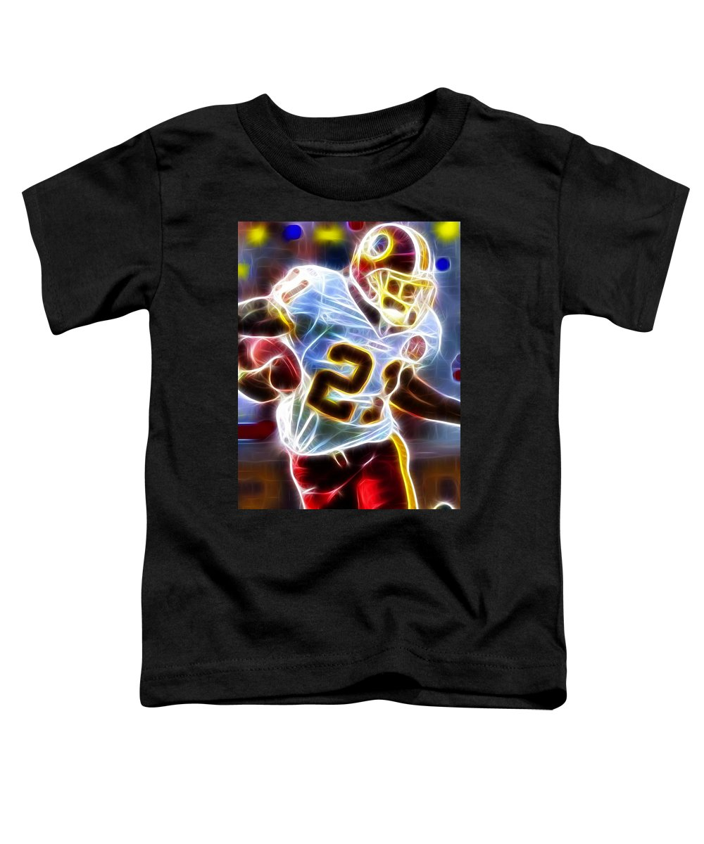 Sean Taylor Toddler T-Shirt featuring the painting Magical Sean Taylor by Paul Van Scott