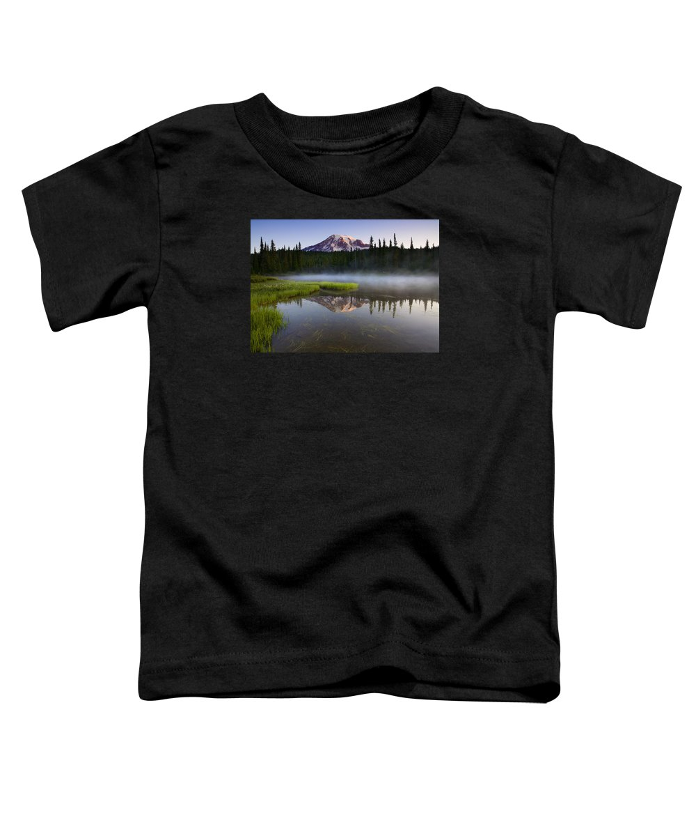 Lake Toddler T-Shirt featuring the photograph Majestic Dawn by Mike Dawson
