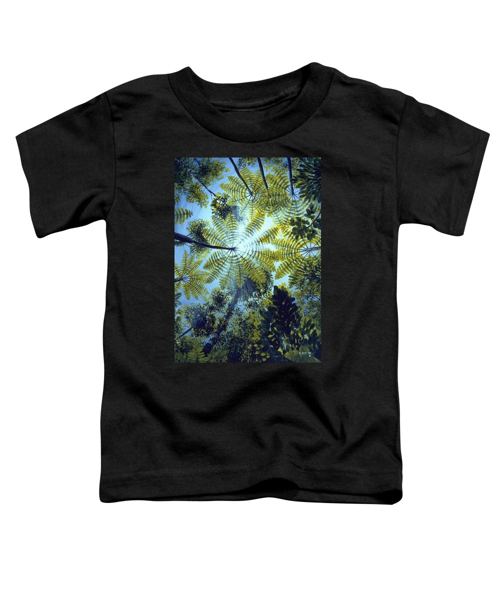 Chris Cox Toddler T-Shirt featuring the painting Majestic Treeferns by Christopher Cox