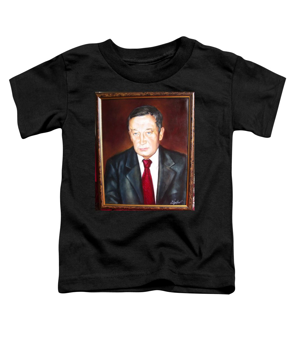 Art Toddler T-Shirt featuring the painting Man 1 by Sergey Ignatenko