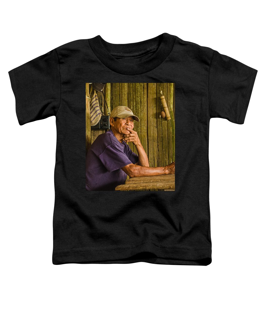Peru Toddler T-Shirt featuring the photograph Man Of The House by Allen Sheffield
