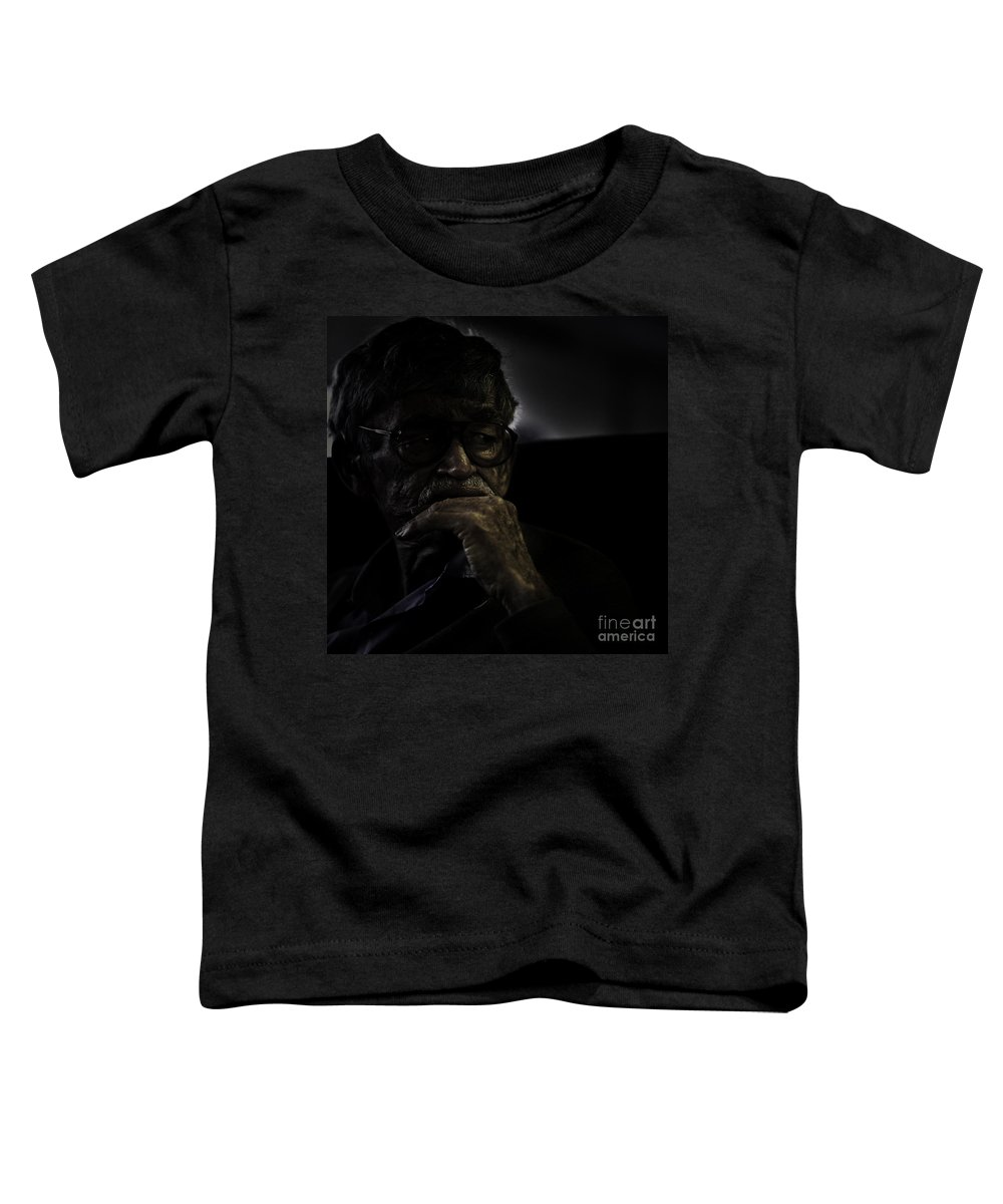 Portrait Toddler T-Shirt featuring the photograph Man On Ferry by Avalon Fine Art Photography