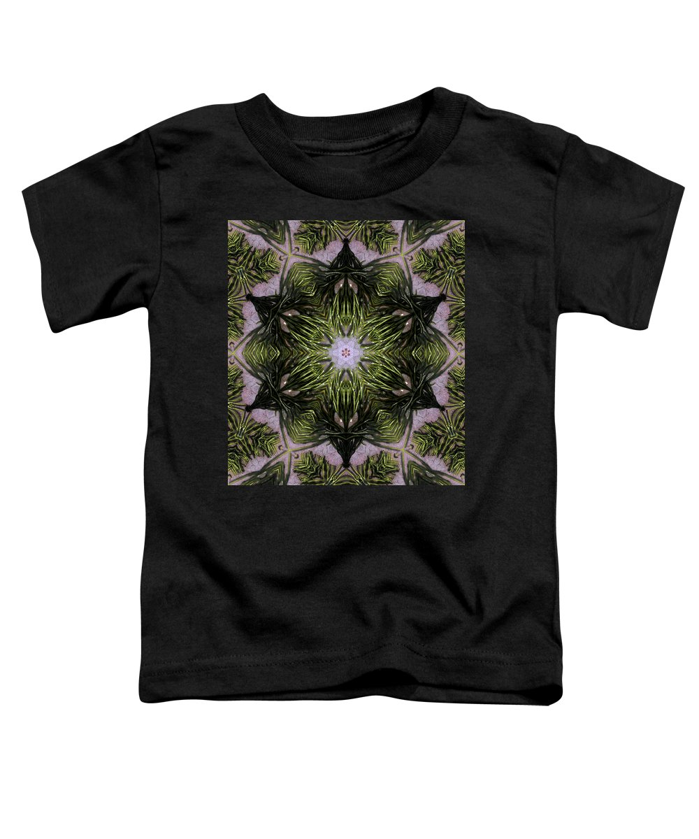 Mandala Toddler T-Shirt featuring the digital art Mandala Sea Sponge by Nancy Griswold