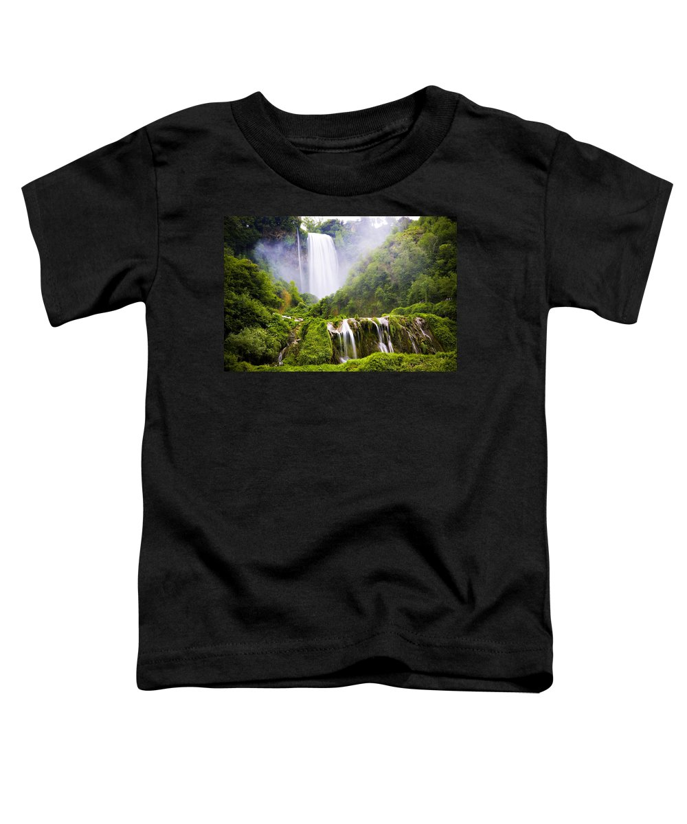 Italy Toddler T-Shirt featuring the photograph Marmore Waterfalls Italy by Marilyn Hunt