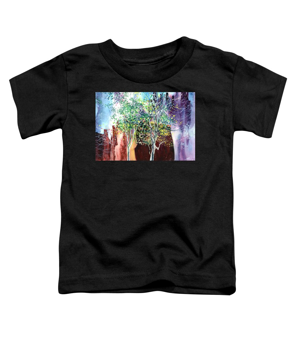 Nature Toddler T-Shirt featuring the painting Maya by Anil Nene