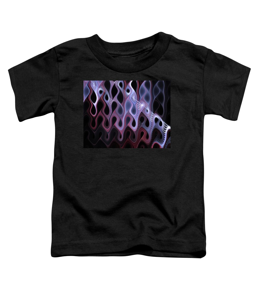 Digital Art Toddler T-Shirt featuring the digital art Meltdown by Amanda Moore