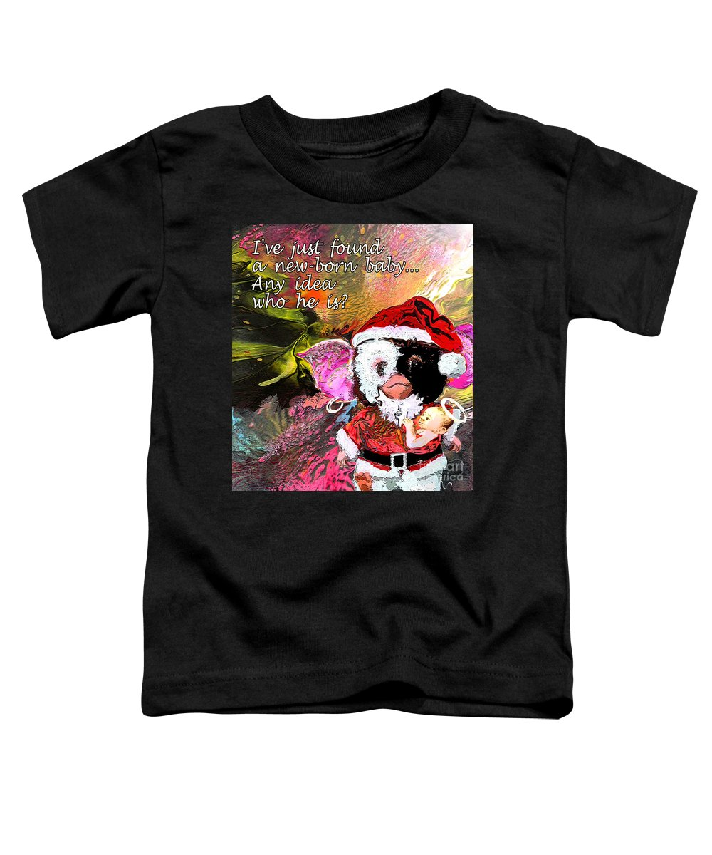 Fantasy Painting Toddler T-Shirt featuring the painting Messiah Found by Miki De Goodaboom