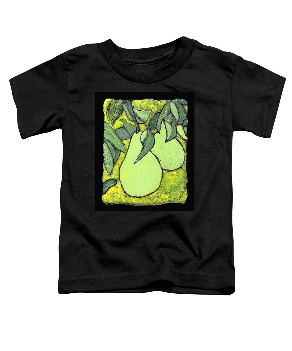 Pears Toddler T-Shirt featuring the painting Michigan Pears by Wayne Potrafka