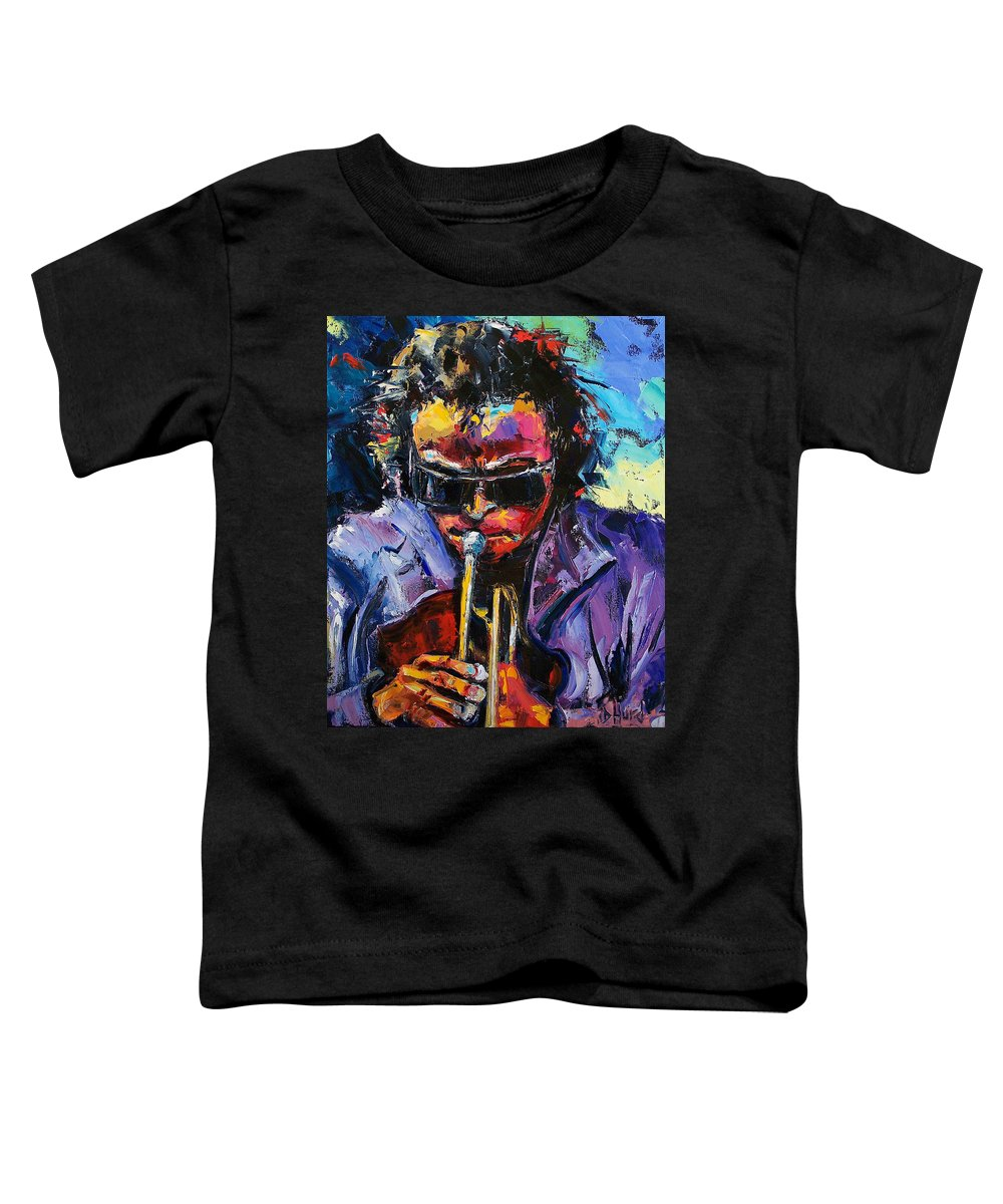 Miles Davis Toddler T-Shirt featuring the painting Miles Davis by Debra Hurd