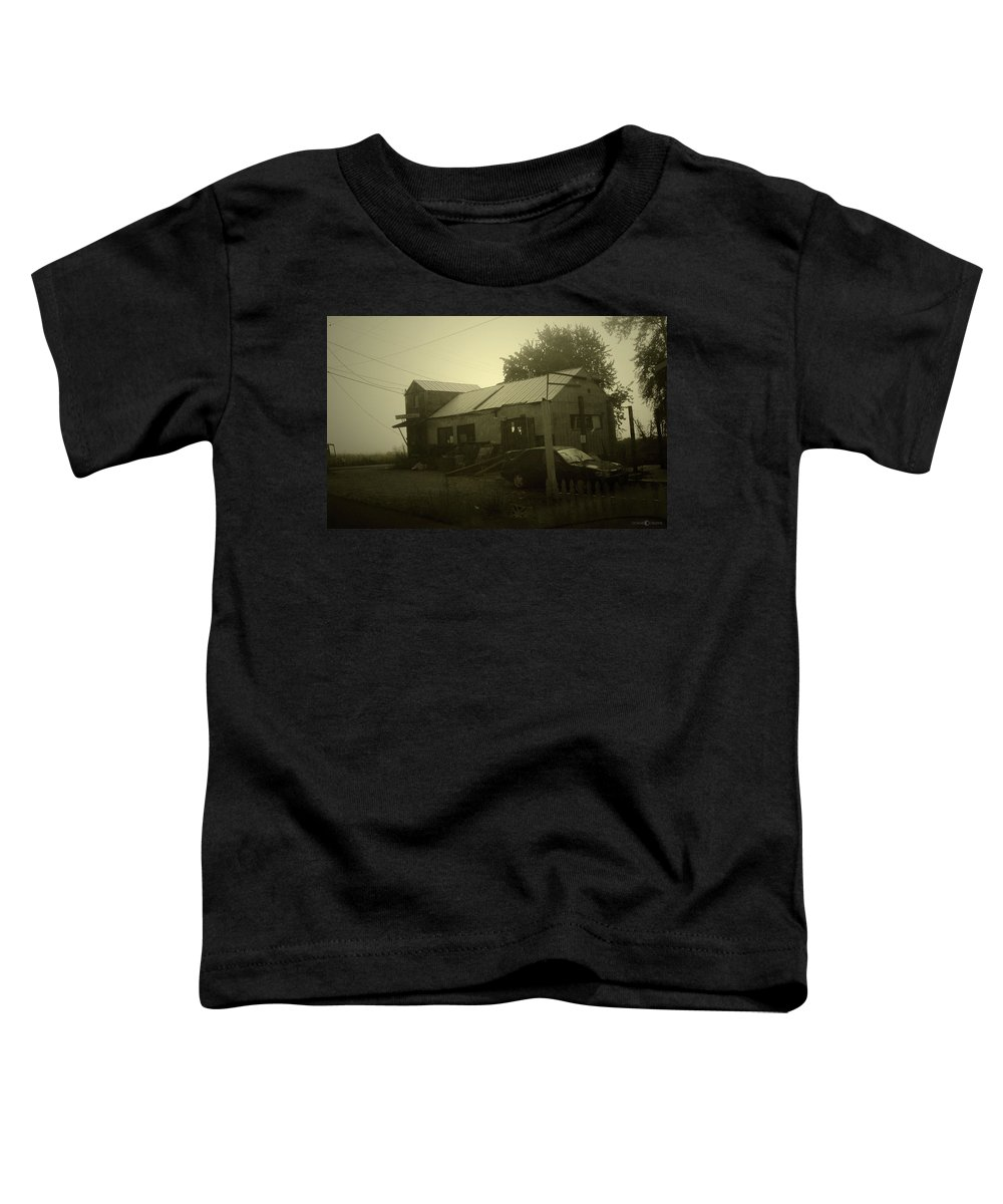 Milltown Toddler T-Shirt featuring the photograph Milltown Merchantile by Tim Nyberg