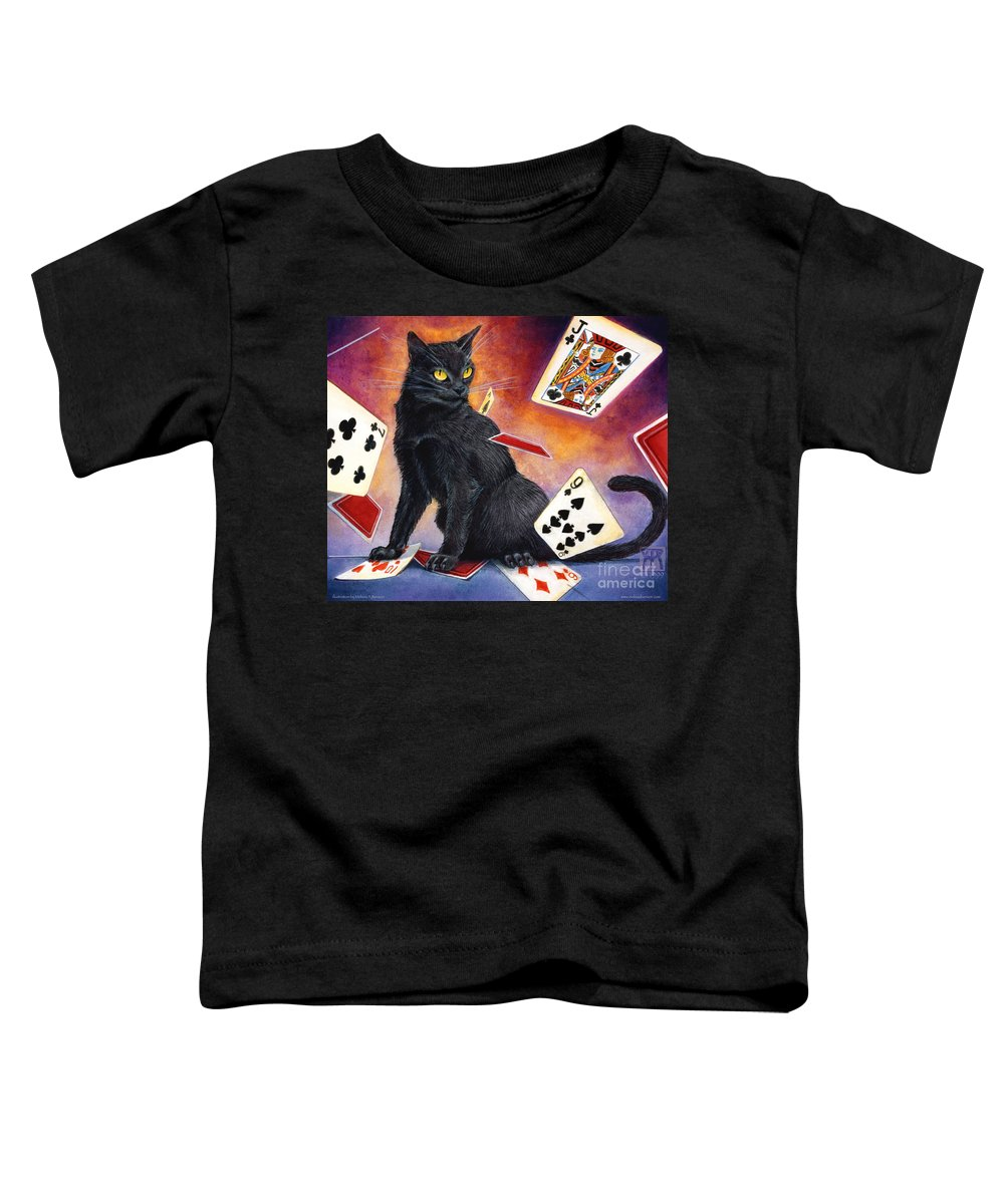 Cat Toddler T-Shirt featuring the painting Mischief Kitten by Melissa A Benson