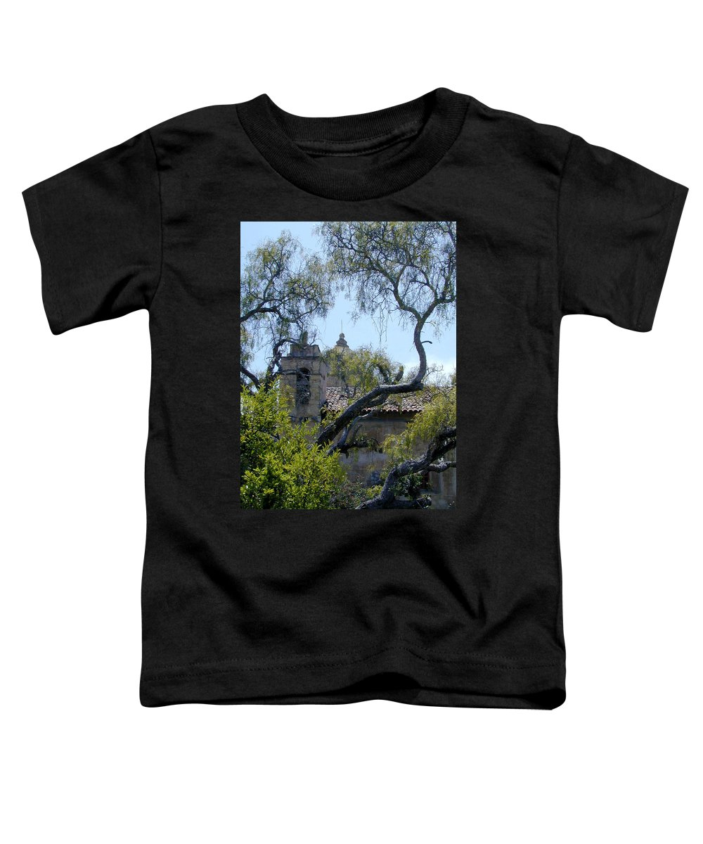 Mission Toddler T-Shirt featuring the photograph Mission At Carmell by Douglas Barnett