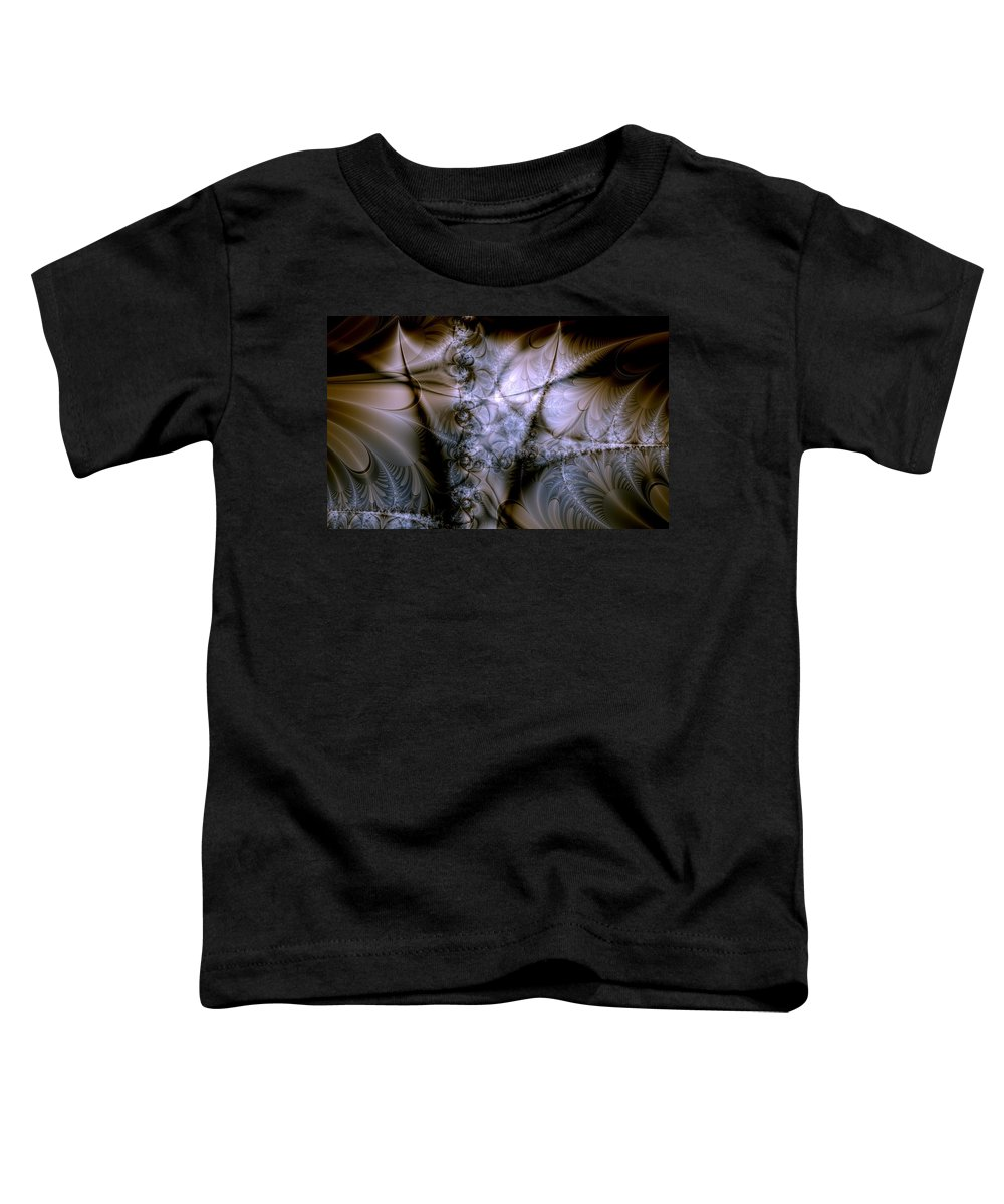 Chocolate Toddler T-Shirt featuring the digital art Molecular Cacao by Casey Kotas