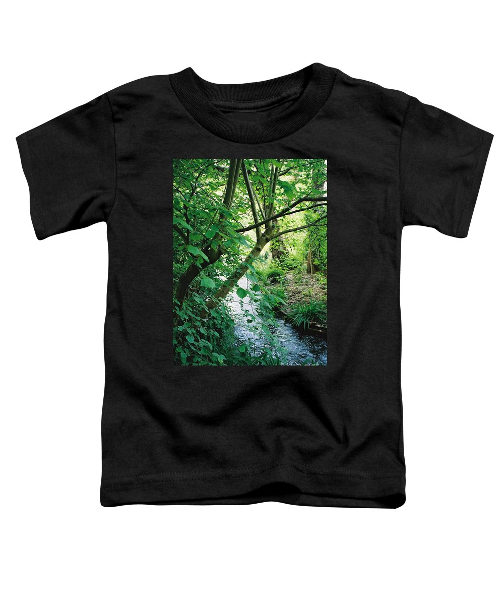Photography Toddler T-Shirt featuring the photograph Monet's Garden Stream by Nadine Rippelmeyer