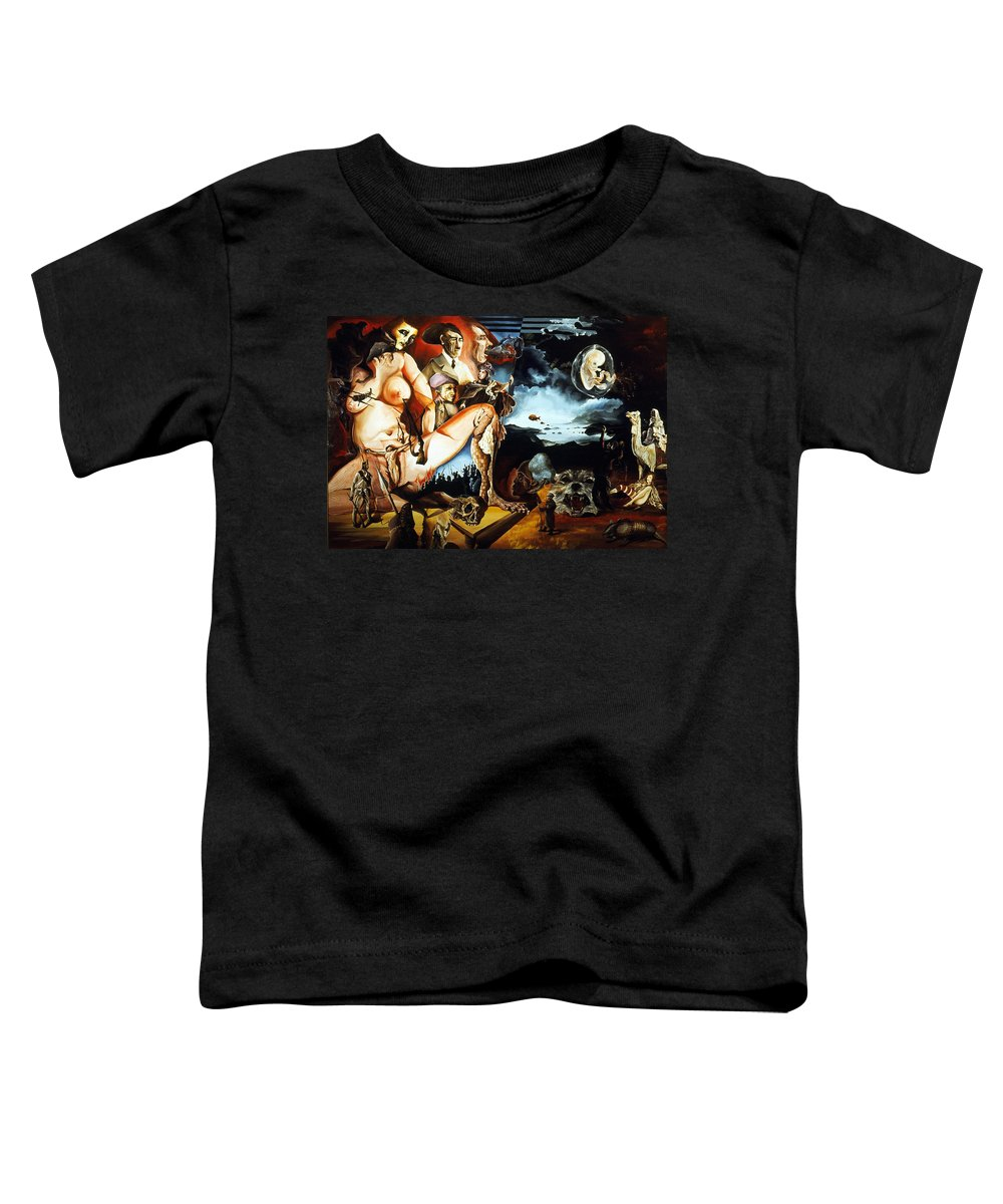 War Toddler T-Shirt featuring the painting Monument To The Unborn War Hero by Otto Rapp