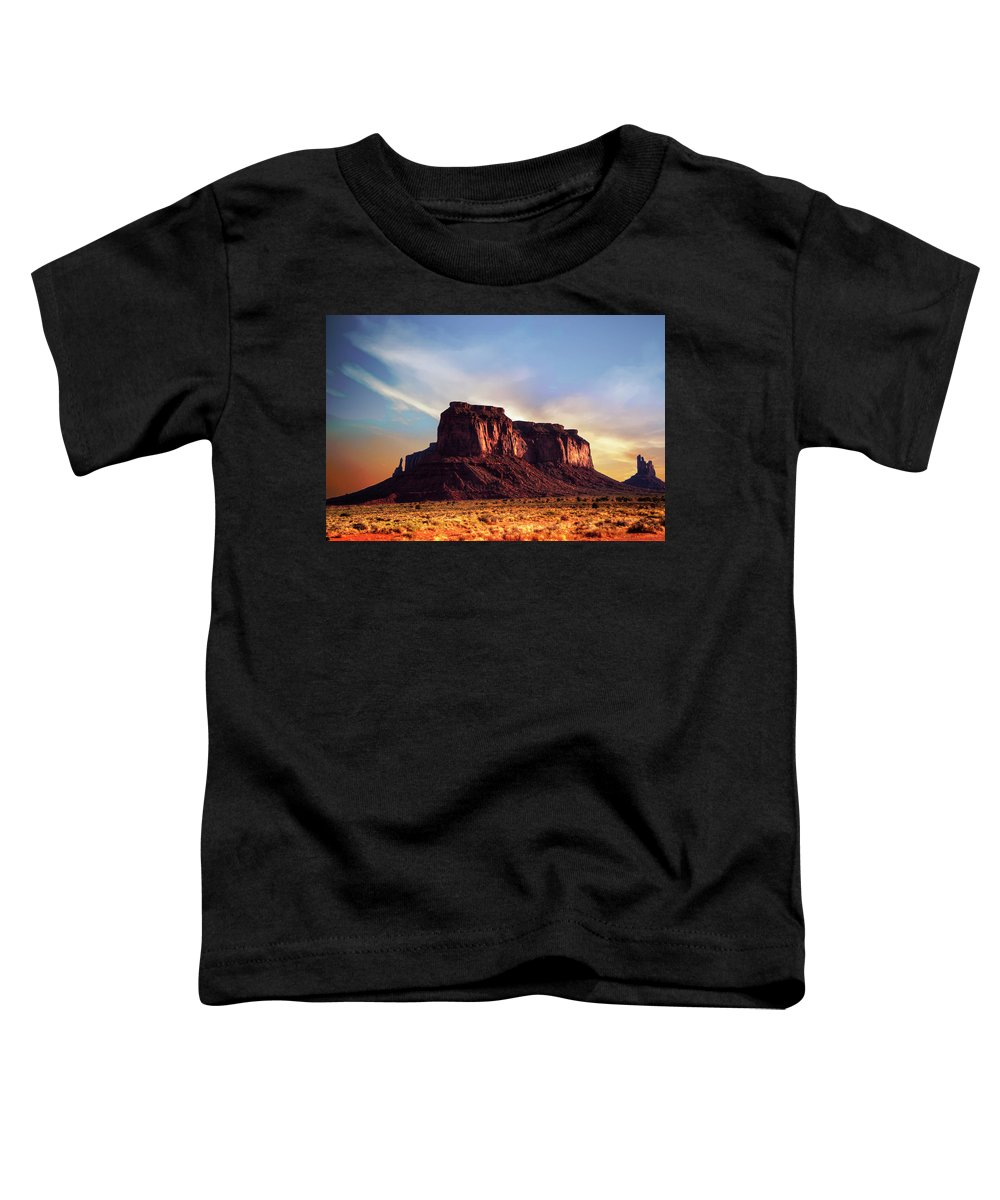 Monument Valley Toddler T-Shirt featuring the photograph Monument Valley sunset by Roy Nierdieck