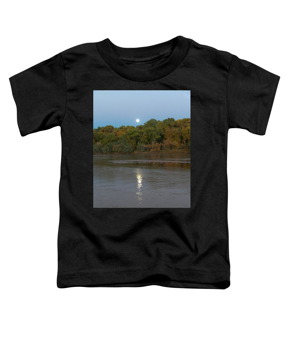 Moonlight Toddler T-Shirt featuring the photograph Moonlight On The Rio Grande by Tim McCarthy