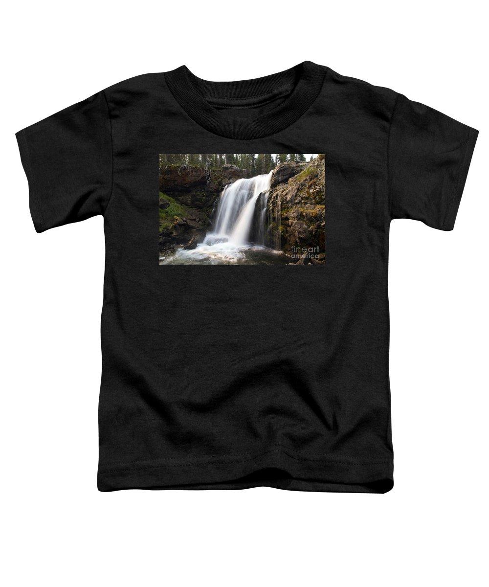 Moose Falls Toddler T-Shirt featuring the photograph Moose Falls Yellowstone National Park by Teresa Zieba