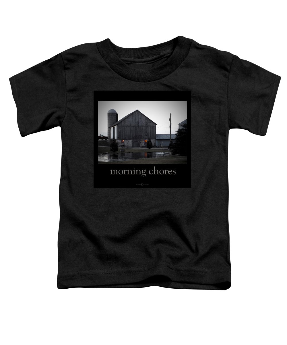 Poster Toddler T-Shirt featuring the photograph Morning Chores by Tim Nyberg