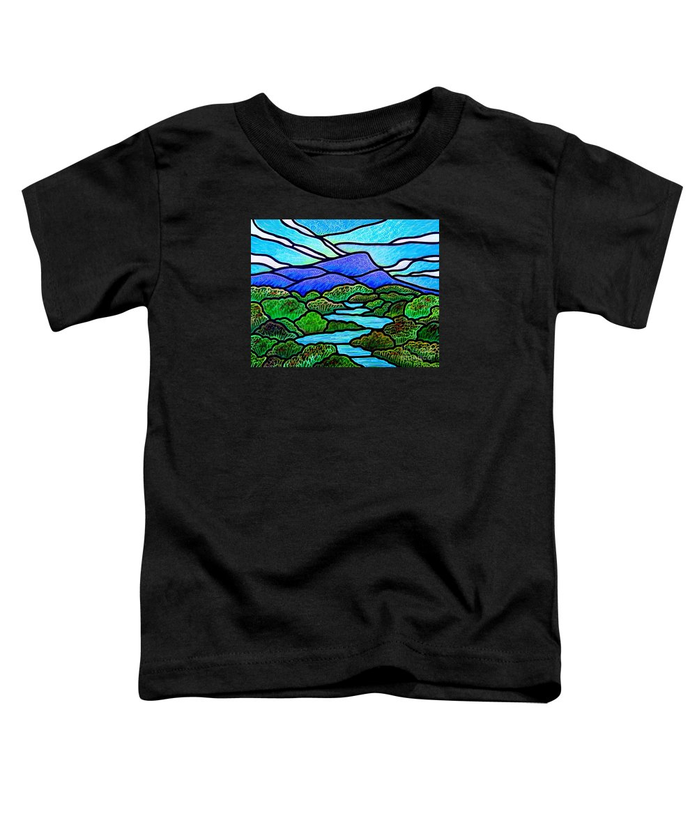 Paintings Toddler T-Shirt featuring the painting Mountain Glory by Jim Harris