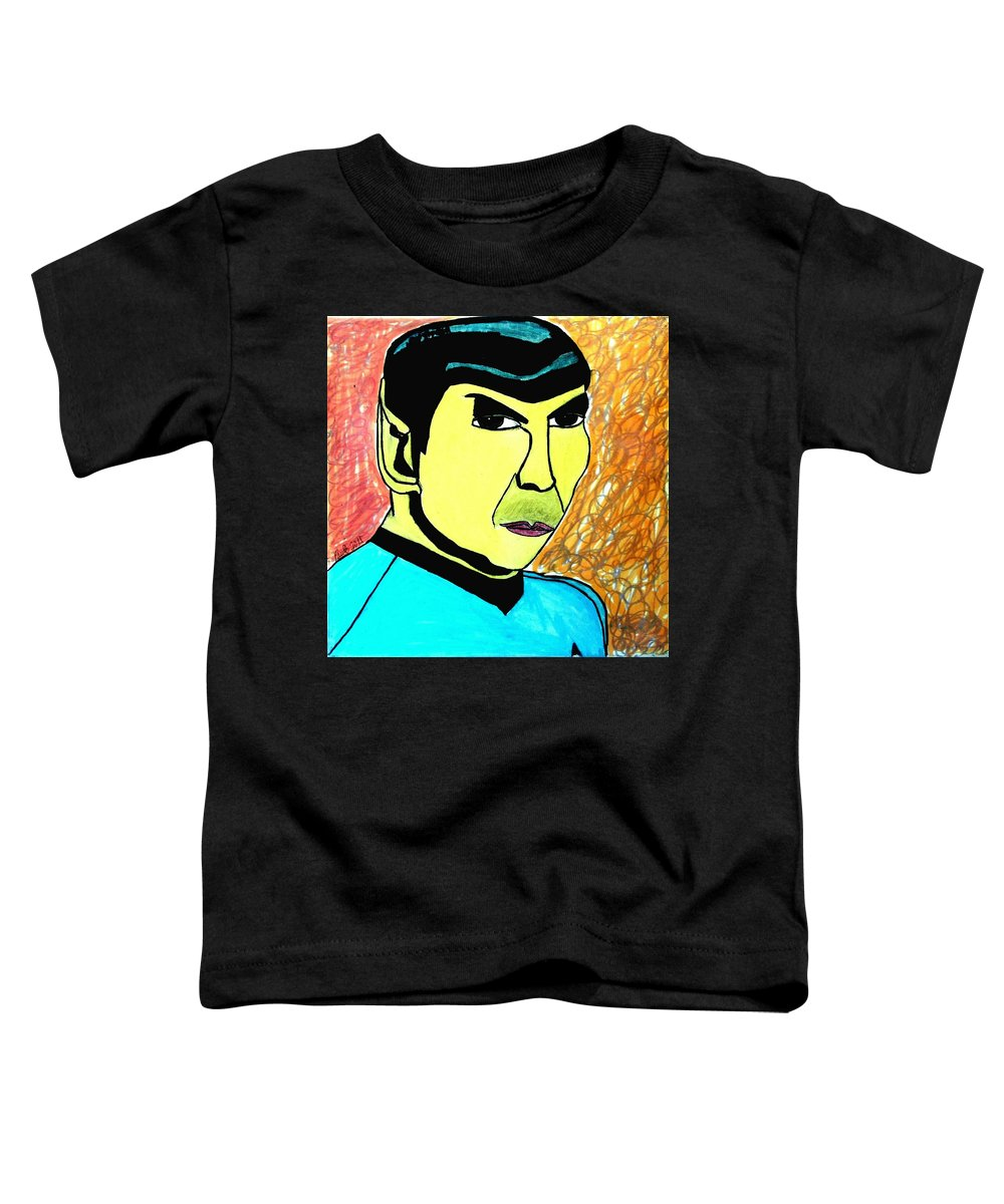 Star Trek Toddler T-Shirt featuring the painting Mr. Spock by Paulo Guimaraes